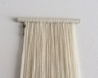 Vanilla YARNFALL - Small with No Texture - Wall Hanging