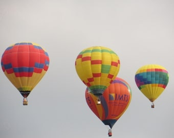 Hot Air Balloon Photo, Hot Air Balloon Photography, Hot Air Balloons Print