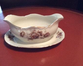 Vintage Porsgrund Norway China Gravy Bowl