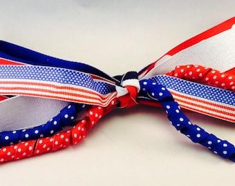 Patriotic Streamer Bow