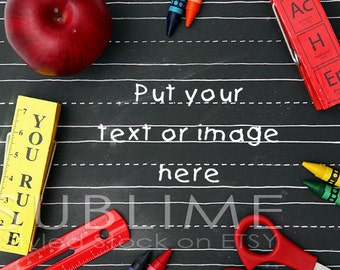 Styled Stock Photography / Styled Desktop / Teacher Theme / Mock Up / Back to Shool / JPEG Digital Image / StockStyle-518