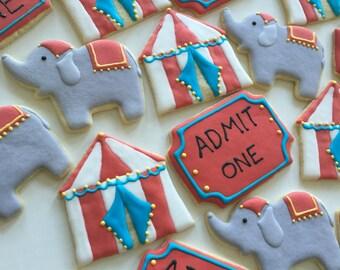 Circus Sugar Cookies (one dozen)