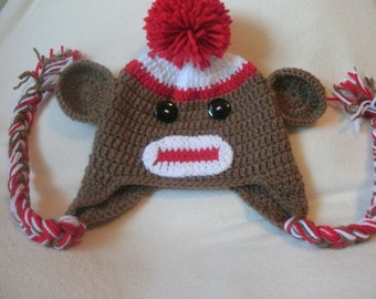 Crochet Monkey/Sock Monkey Hat