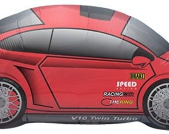 "14"" Self-Sealing Red Race Car Balloon"
