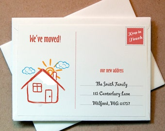 We've Moved Cards Personalized (15 cards and envelopes)