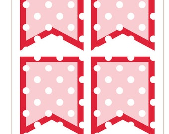 BF013- Polka Dot Flags- Red