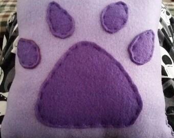 Small Paw Print Fursona Pillow