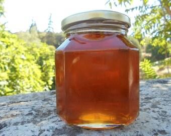 Greek Honey, Raw, Unfiltered, Unheated, Organic Honey,Forest Honey  from windflowers, oak trees, blackberries, vitex  15.8 0z ( 450 gr.)