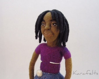 Tiara, a needle felted art doll