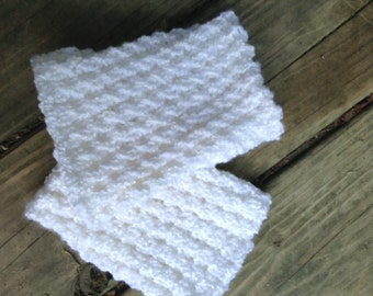 Knit Boot Cuffs White - Boot Toppers - Boot Socks - Leg Warmers - Women's Accessories