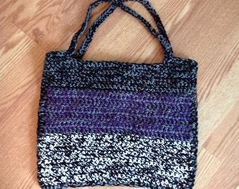 SALE Hand crocheted tote purse beach bag handbag handmade gifts