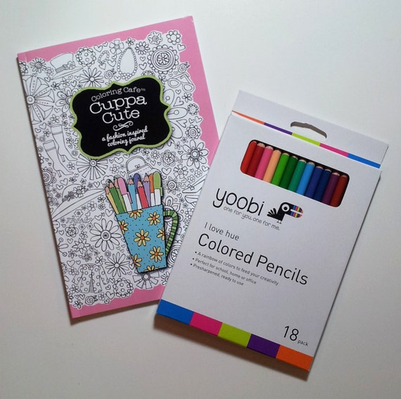 The Coloring CafeTM Book Journal Cuppa Cute For