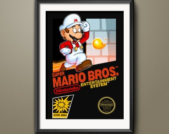 Super Mario Bros. Original NES Cover Art Print
