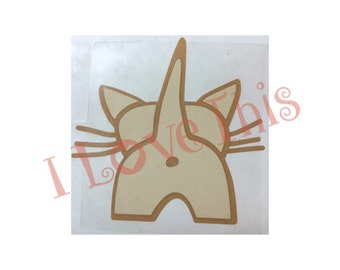 Cat Butt vinyl decal