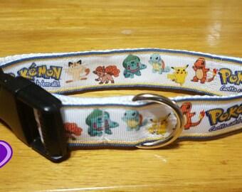 "1"", 1.5"" or 2"" Pokemon Dog Collar, or 1"" Key FOB"