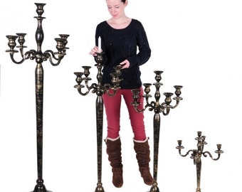 Mallory Towers Victoriana Candelabra Antique Gold and Black