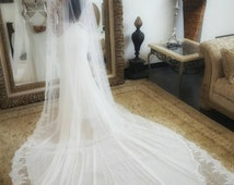 Package Deal- LIMITED TIME ONLY transformational Berta Bridal inspired wedding dress with lace Cathedral length veil, unique wedding dress