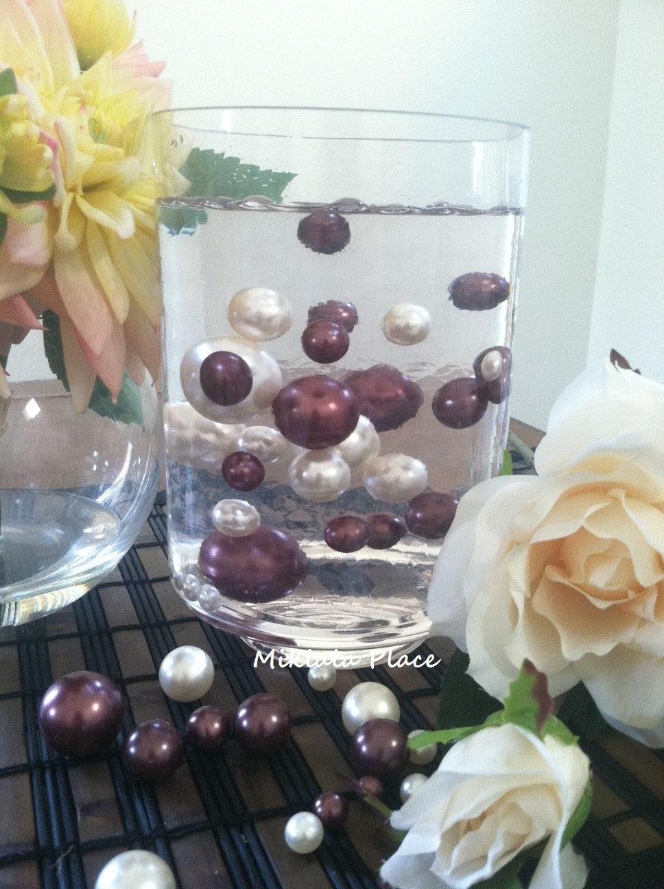Jumbo Floating Pearls Vase Filler Ivory Chocolate Brown