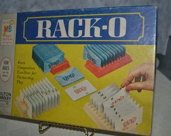Rack-O game / Milton Bradley / vintage / 1961 / family game / children / toys / vintage game / vintage toy / family fun / card game / toy