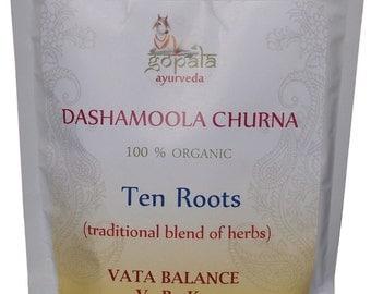 Dashamoola Powder (USDA Certified Organic) - Gopala Ayurveda
