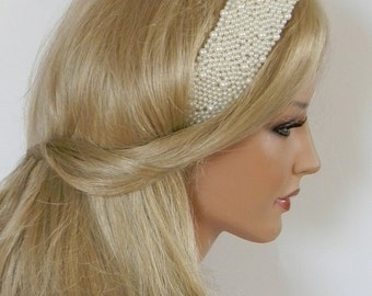 Felicia hand embroidered beaded Hairband