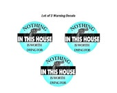 Warning Window Decal Protect Your Home Lot of 3