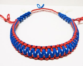 Custom Paracord Duck/Goose Call Lanyard Red White and Blue