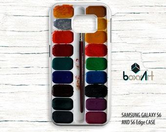 Samsung Galaxy S3 S4 S5 S6 S6 Edge Case - Watercolor Palette