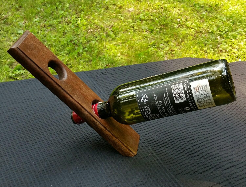 2 bottle wine rack decorative wine bottle by - Wine bottle storage angle ...