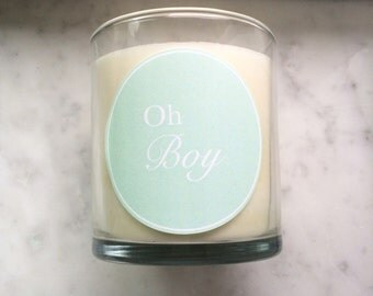 Sage & Chamomile Scented - Oh Boy Candle