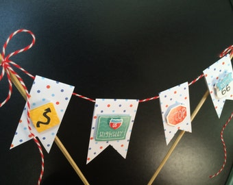 Road Signs Cake Banner
