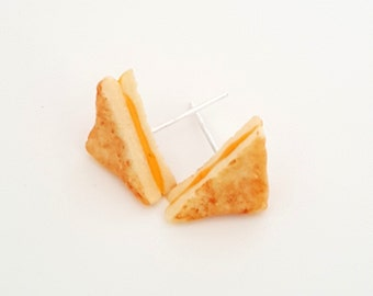 Miniature Food Earrings Grilled Cheese Sandwich