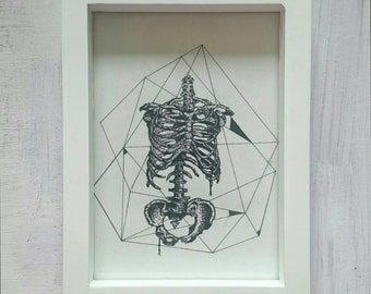Stippled Rib Cage Geometry Print