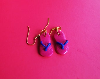 Flip Flop Fimo/Polymer Clay Earrings