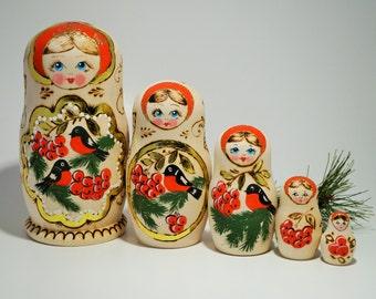 "Matreshka Nesting Doll 6.5"" Tall"