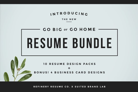 huge resume bundle bonus business cards 10 resume designs