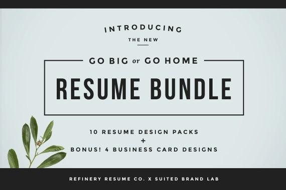 huge resume bundle bonus business cards 10 resume designs