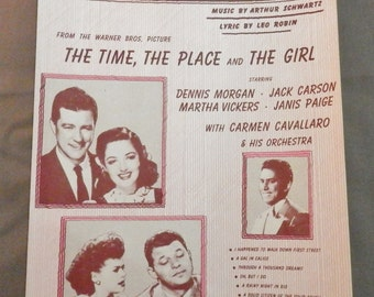 A Gal In Calico Sheet Music 1946 From Warner Bros. Picture The Time The Place & The Girl