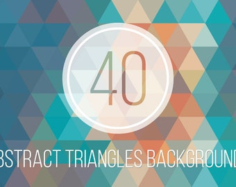 40 Abstract Triangles Backgrounds