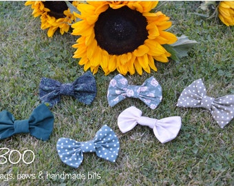 Hairbows - Set of 6 Various Greens