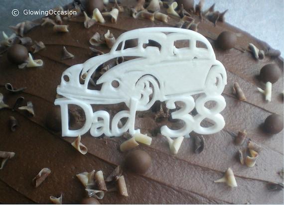 Vw Beetle Cake Topper