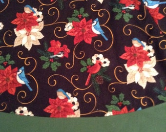 Flowers, birds and pine cones  tree skirt