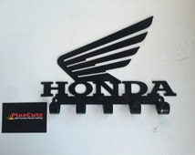 HONDA Wings logo Key Rack CNC Plasma cut & powder coated with choice of colours and style
