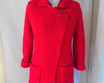 The READ COAT. Wool. Coat for autumn.