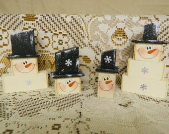 4-Piece Snowmen Set