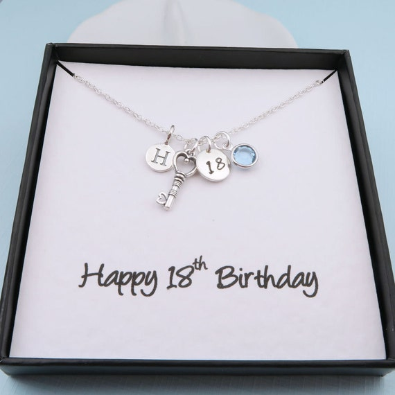 Personalized 18th Birthday Necklace With By CrystalSongJewels