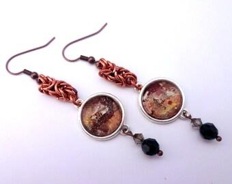 Chocolate Brown Dangle Earrings