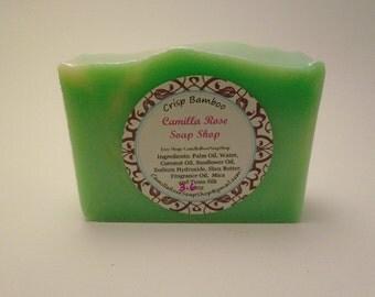 Crisp Bamboo Cold Process Handmade Soap