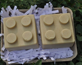 Kid Soap. Blocks Gift Set. Lavender Soap.