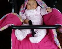 Hooded Blanket (2-in-1), Pram blanket, Stroller blanket, Cozy blanket, Baby gift, Baby shower, Baby blanket, PLEASE READ